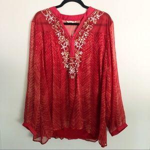 NWOT Soft Surroundings Annalise beaded tunic sz XL